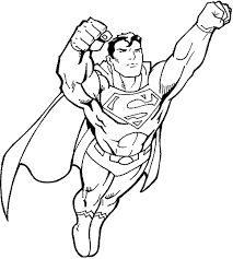 Small Picture Superman Coloring Pages Coloring Book