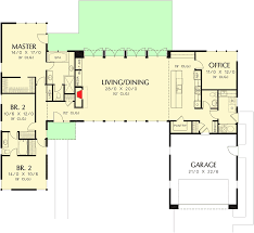 modern house plans.  Modern 3 Bed Modern House Plan With Open Concept Layout  69619AM Floor Plan  Main Level Throughout Plans