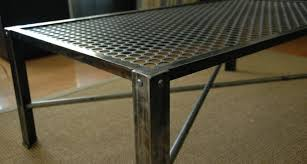 industrial metal furniture. Industrial Metal Coffee Table Mid Century Vintageindustrial Furniture O