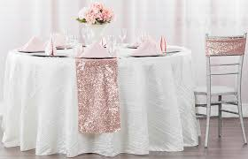 glitz sequin table runner blush rose gold