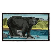 indoor outdoor black bear rug