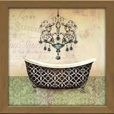 vintage bathroom wall decor. Vintage Bathroom Wall Decor French Bath Ii Framed Canvas Art I Retro