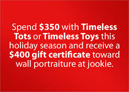 Holiday Gift Certificates Holiday Gift Certificate Promo Timeless Tots And Timeless