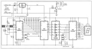 circuit zone com electronic projects electronic schematics diy charge monitor for 12v lead acid battery