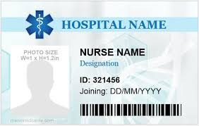 Make Your Own Identification Card 5 Professional Nursing Id Cards For Ms Word Microsoft Word
