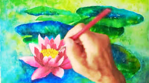 water lily watercolor tutorial easy step by step lesson for beginners