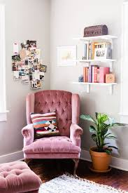 pink home office design idea. Pink Velvet Accent Chair F70X About Remodel Rustic Home Designing Ideas With Office Design Idea U