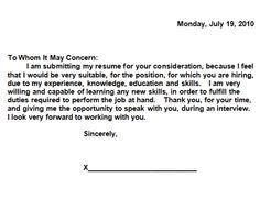 Easy Cover Letter | Resume CV Cover Letter