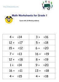 Two Digit Addition And Subtraction Worksheets For Grade 1 ...