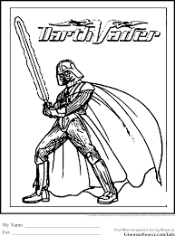 Small Picture Coloring Pages Darth Vader To Print For Kids Online Free Printable
