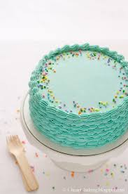 Blue Funfetti Birthday Cake With Piped Shell Sides Cake Decorating