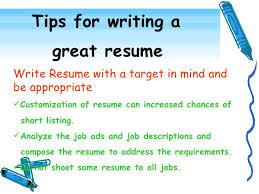 resume writing tips effective resume writing resume template ideas writing a resume tips