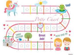 Printable Pink Princess English Potty Training Chart Download