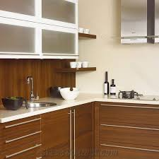 high gloss white solid surface resin kitchen countertops