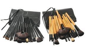 makeup brush set with vegan leather case 24 piece