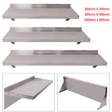6009001200mm stainless steel wall shelf mounted kitchen shelves w brackets stainless steel kitchen shelves a60