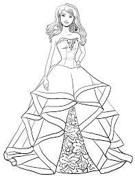 Disegno Di Barbie Magia Delle Feste Da Colorare