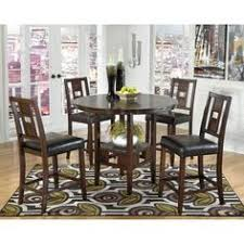 signature designs by ashley logan brown counter table set overstock ping big upholstered bar stoolscounter height dining