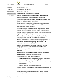 Project Manager Job Description - Sarahepps.com -