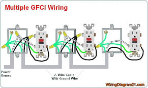gfci outlet wiring diagram house electrical wiring diagram Wiring Diagram For Gfi Outlet multiple gfci electrical outlet wiring diagram wiring diagram for gfci outlet