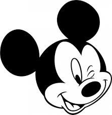 mickey mouse face vector - Clip Art Library