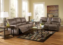 Reclining Living Room Furniture Sets Oberson Gunsmoke Power Reclining Living Room Set From Ashley