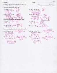 worksheet quadratic equations luxury solving quadratic equations worksheet with answers free worksheets