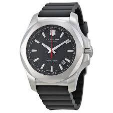 victorinox swiss army inox black dial black rubber mens watch victorinox · zoom