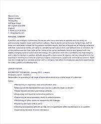 Automotive Technician Resume Resume Sample