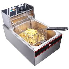 2500w 6 liter electric countertop deep fryer tank basket commercial