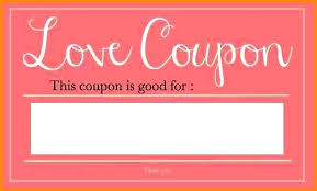 I Owe You Coupon Template Colorful Free Printable Coupons Online O U