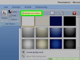Powerpoint Create Slide Template How To Make A Powerpoint Template 12 Steps With Pictures