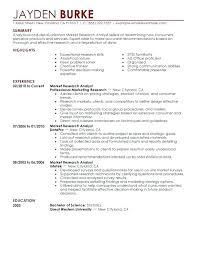 Market Researcher Sample Resume Research Scientist Resume