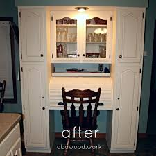 Kitchen Desk Updated Antique White Kitchen Cabinets St Rose Il Dba Custom