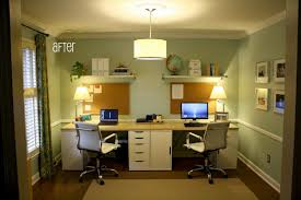 home deco office deco. Captivating Home Office Decoration For Two With Modular Table And Desk Lamp Added Ikea Wall Organizer Pegboard White Wooden Deco R