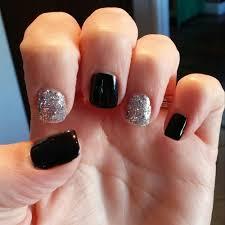 Black Gel Nail Polish With Light Black Nail Art Base With Silver ...