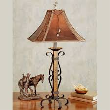 lone star table lamp brown western table lamps t7