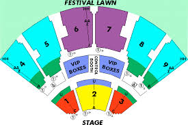Coastal Music Park Seating Chart Coastal Credit Union Music Park At Walnut Creek Seating
