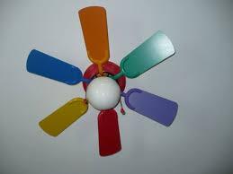 kids ceiling fan rainbow colors 10