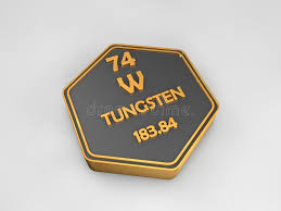 Tungsten - W - Chemical Element Periodic Table Hexagonal Shape ...