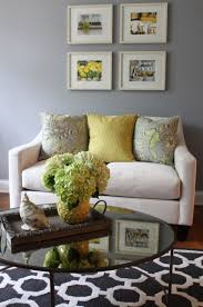 Entrancing Pictures Of Yellow And Grey Living Room Design And Decoration  Ideas : Comely Image Of