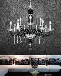 112 ch 8 4 chrome black crystal chandelier leonie chandeliers