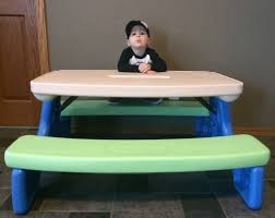 image of little tikes picnic table size