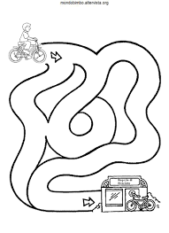 Completa Il Labirinto Mondo Bimbo Con Disegno Bambino Con Bicicletta
