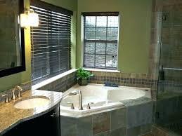 corner tub and shower bathroom with on bath jacuzzi seat master ba fiberglass reinforced acrylic corner whirlpool