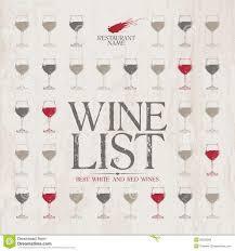 Free Wine List Template Download Wine List Menu Template Illustration 25520006 Megapixl 66813000931