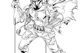 Boba Fett Coloring Pages Boba Fett Coloring Page Line Drawing Star
