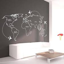 wall world map world map outlines wall decal continents decal large world map vinyl world map wall sticker large laminated world wall maps
