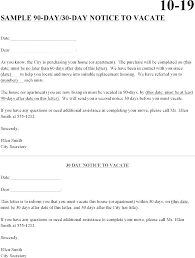 Day Notice Forms Templates And Samples Info Days Letter
