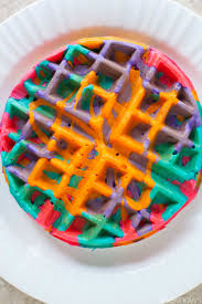 Small Picture These simple DIY colorful tie dye waffles will make your mornings